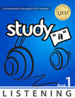 English listening 1, study it listening, James Rice, languages canada, english school canada, english school usa, listening skills, listening and speaking skills, sample textbook, esl textbook sample, esl book free